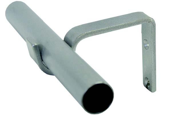Satin Pole With Flat Bar Bracket